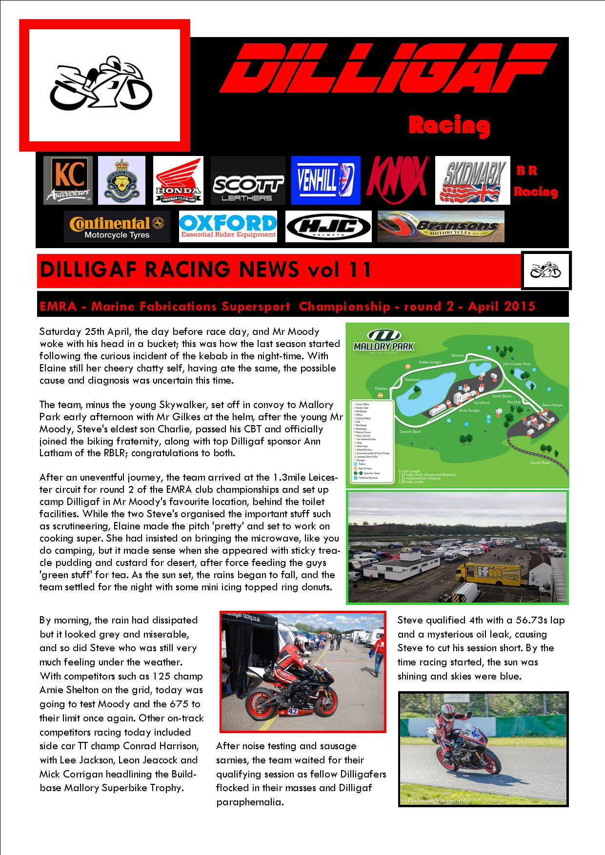 dilligaf racing news vol 11