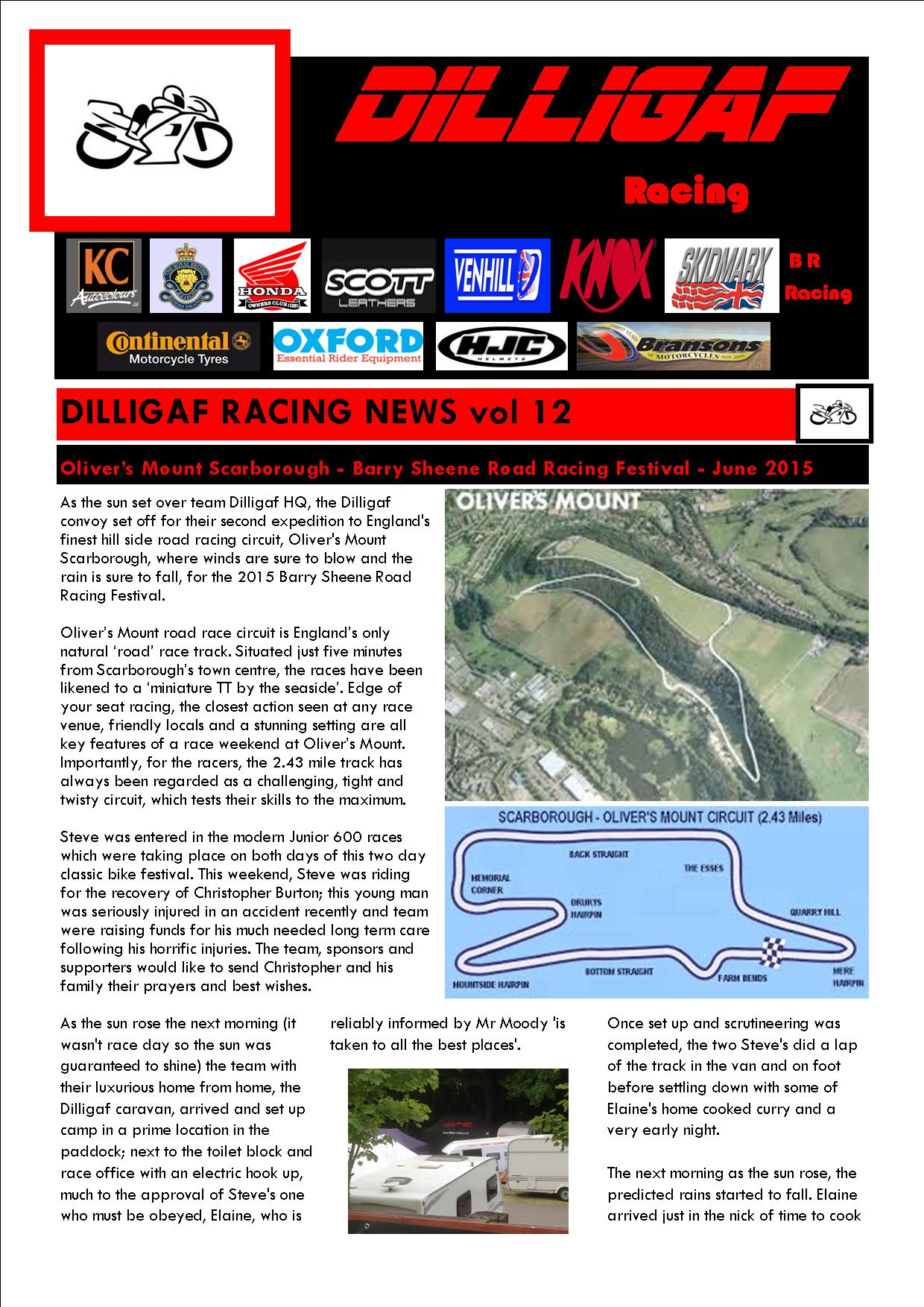 dilligaf racing news vol 12 olivers mount June 2015 p1
