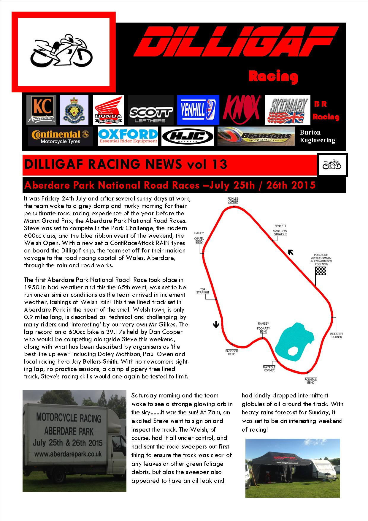 dilligaf racing news vol 13 Aberdare National park p1