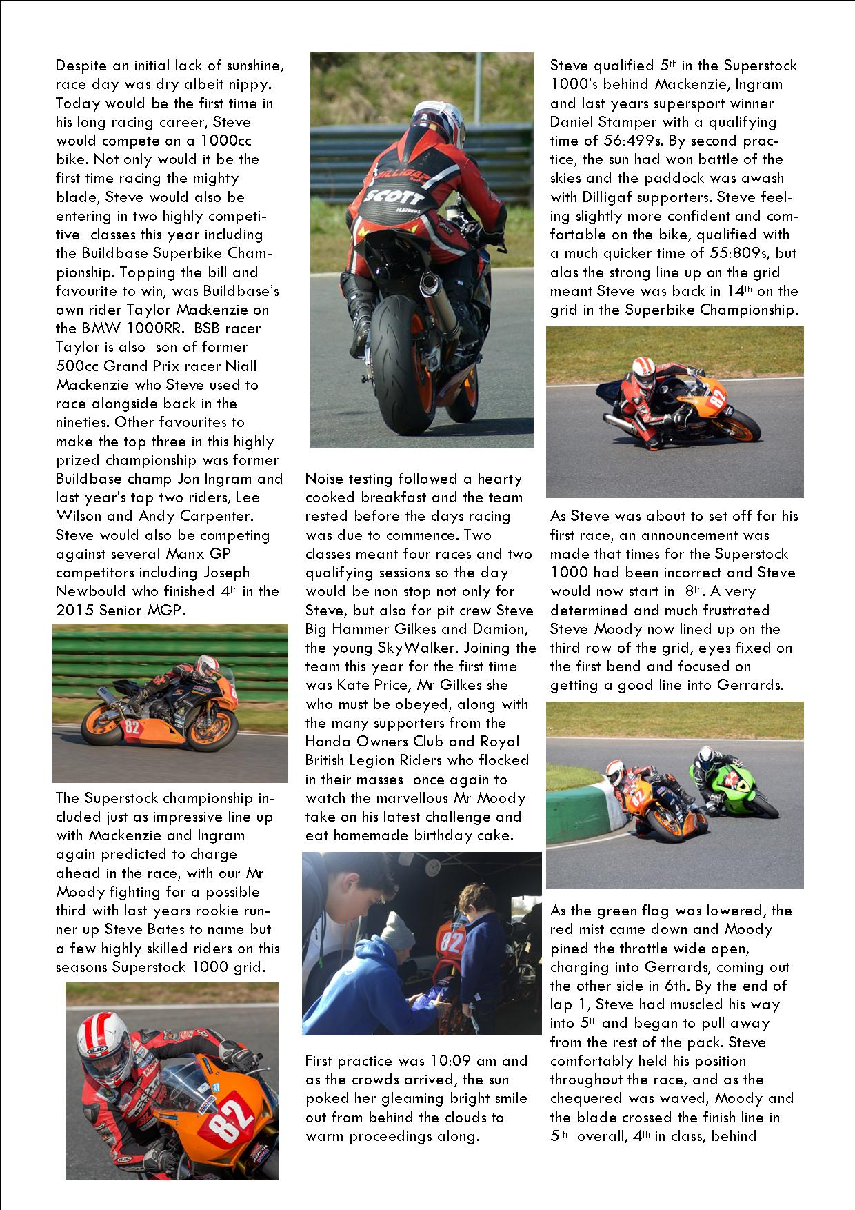 dilligaf racing news vol 14 EMRA superstock championship 2016 p2