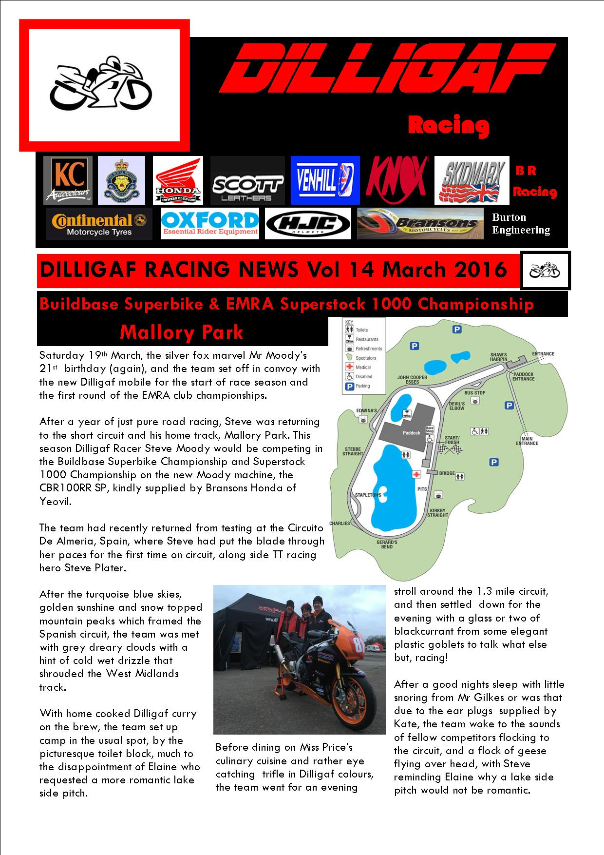 dilligaf racing news vol 14 EMRA superstock championship 2016
